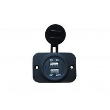 Накладная USB зарядка-розетка для транспорта TUC23M03B
