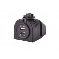 Накладная USB зарядка-розетка для транспорта TUC23M04B