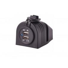 Накладное зарядное устройство USB розетка для транспорта USBC2304b